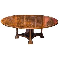 Stunning Burr Walnut Jupe Dining Table
