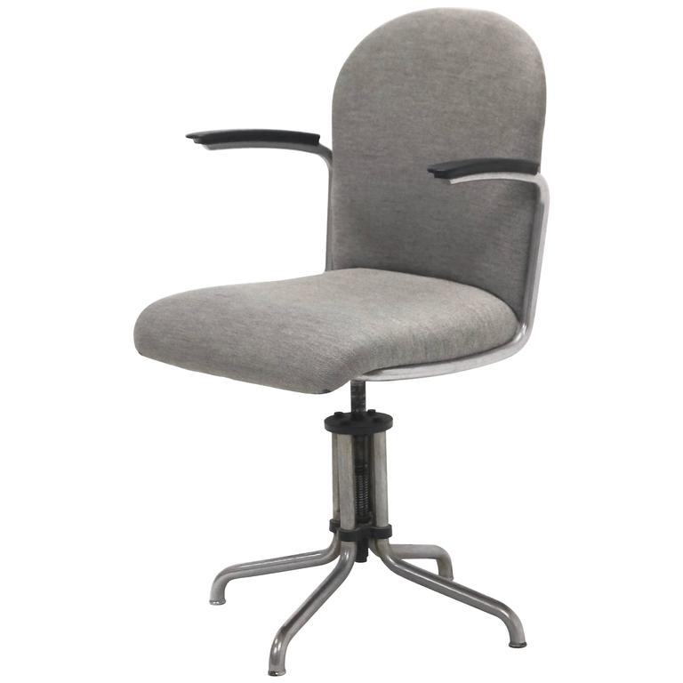 Industrial Gispen No 356 Desk Chair Designed By W H