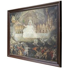 Quite Magnificent 18th Century English School Oil on Canvas, the Last Judgement
