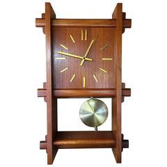 Mid-Century Teak Clock by Westminster of Denmark