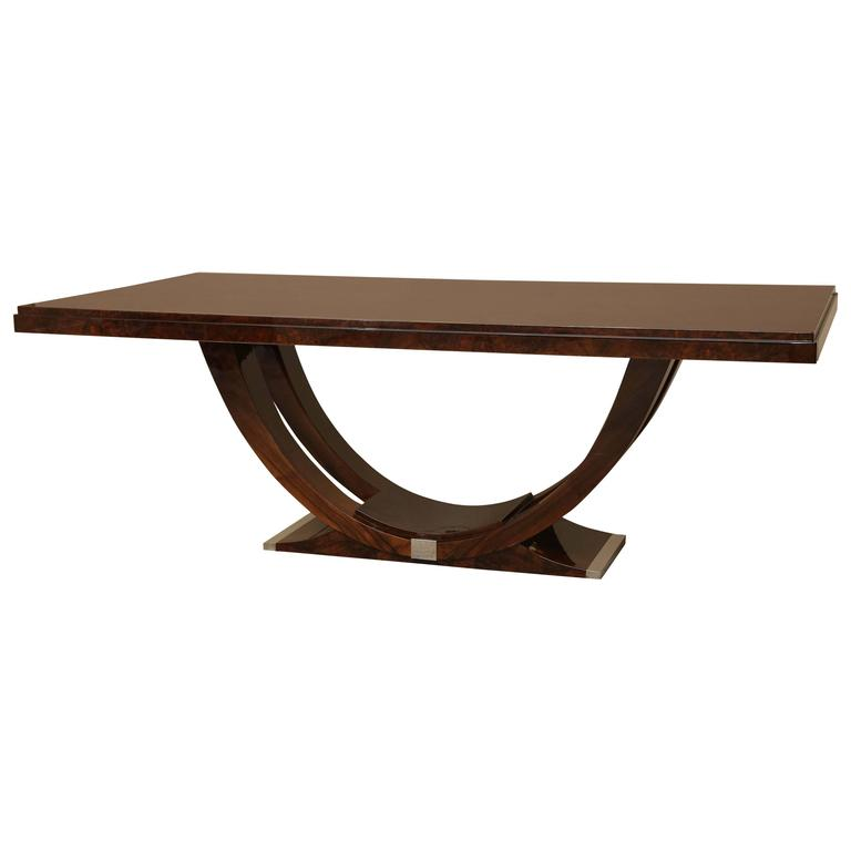 art deco burl walnut dining room table at 1stdibs art deco dining table for sale at 1stdibs