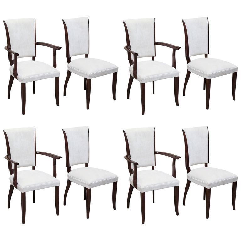 Set Of Eight Art Deco Dining Room Chairs At 1stdibs