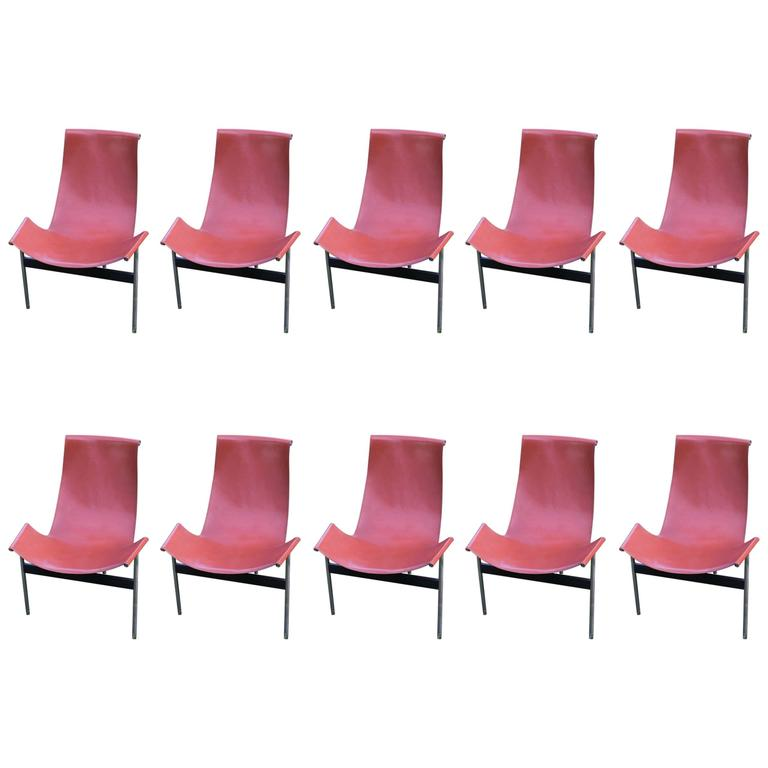 """Katavolos Leather Sling """"T"""" Chairs"""