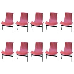 "Katavolos Leather Sling ""T"" Chairs"