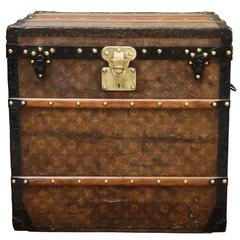 1900s Louis Vuitton Monogram Hat Trunk