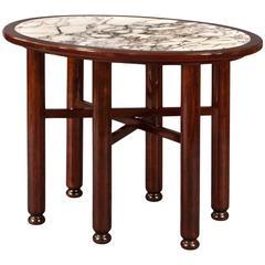 Adolf Loos, Rare Austrian Mahogany and Marble Table
