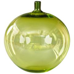 Ingeborg Lundin for Orrefors, Swedish Glass Apple Vase