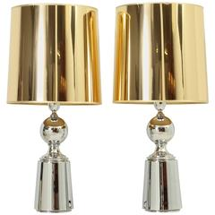 Pair of Table Lamps from 1970s by Metalarte