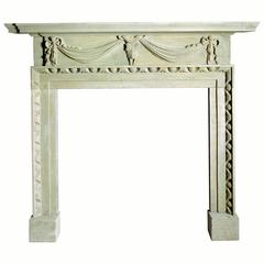 18th Century Reproduction Portland Limestone Mantelpiece