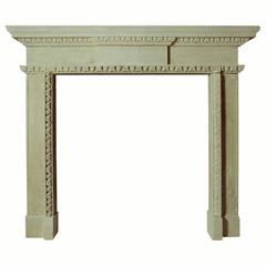 18th Century Reproduction Mantel in Bath Stone