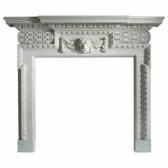 18th Century Reproduction Palladian Mantel in Bath Stone
