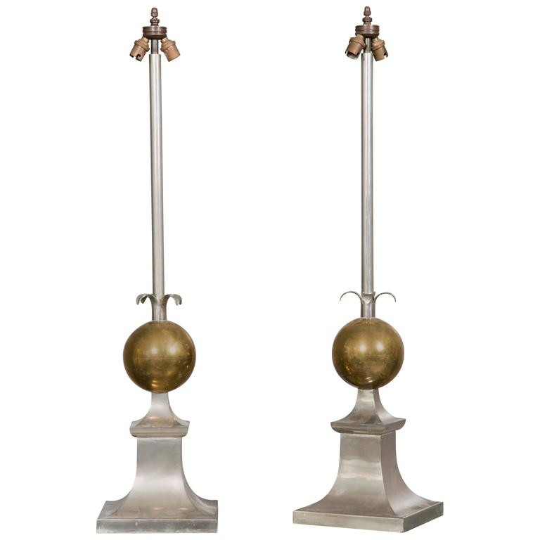 Large Pair of 1970s Lamps