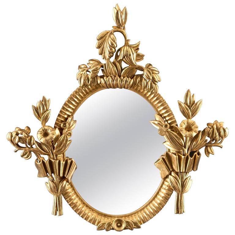 Dagobert Peche for the Wiener Werkstätte, Viennese Carved Giltwood Mirror 1