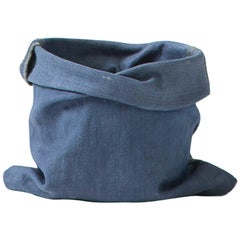 Contemporary Denim Planter made from Hardened Jeans