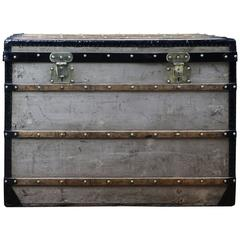 1870s Louis Vuitton Trianon Canvas Steamer Trunk
