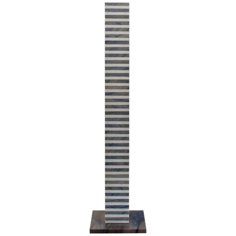 Ettore Sottsass, Italian Marble Pedestal, Stand No. 6 For Sale