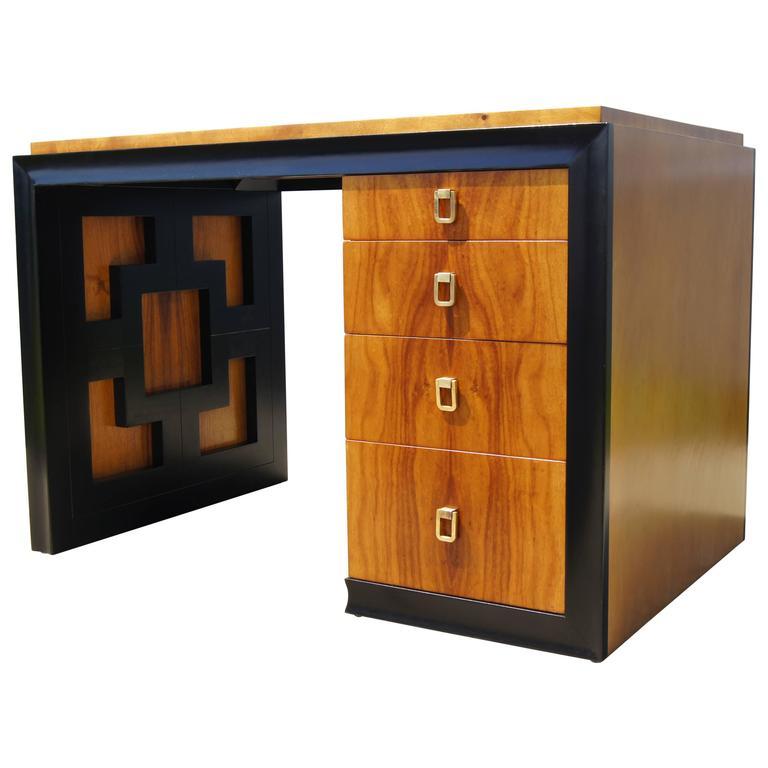 Koa Wood Desk by Johan Tapp for Gumps