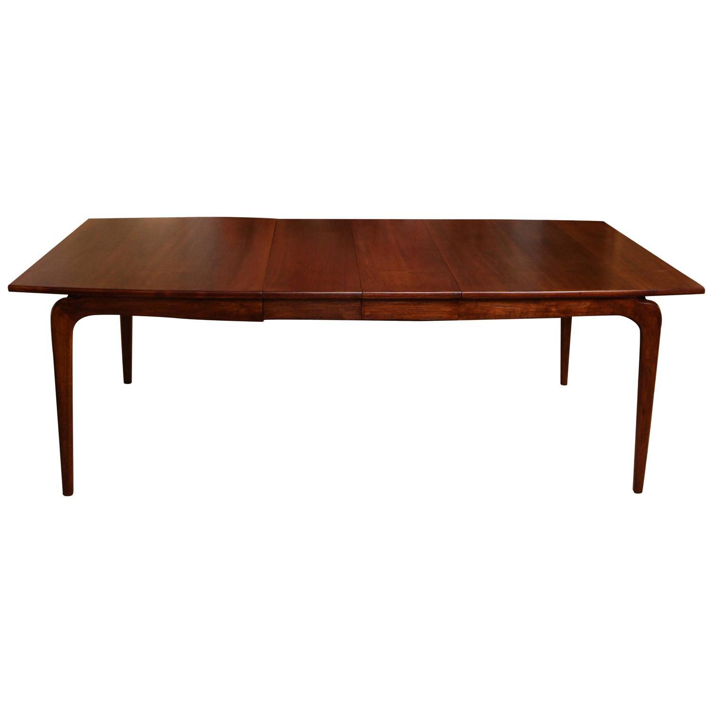lane classic modernist walnut dining table at 1stdibs