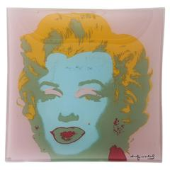 "Andy Warhol ""Marilyn Monroe"" Glass Serving Plate/ Tray"