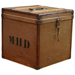 1910s Woman Hat Trunk with Monogram Canvas with Key