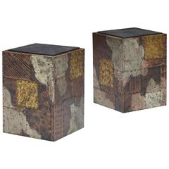 Cube Tables Model PE 20, Pair by Paul Evans for Directional