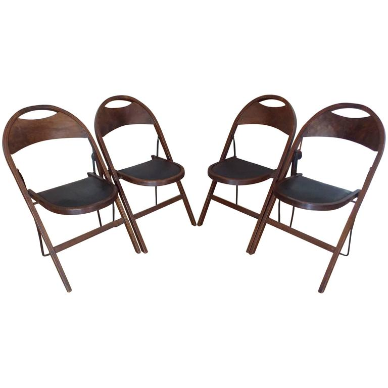 americana wood folding chairs stakmore 1925 at 1stdibs