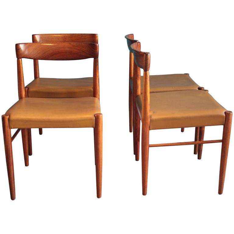 Beau Rosewood Dining Chairs By H.W. Klein For Bramin, Set Of Four