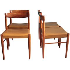Rosewood Dining Chairs by H.W. Klein for Bramin, Set of Four