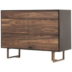 Walnut Steel Dresser by Foundrywood, Brooklyn, NY
