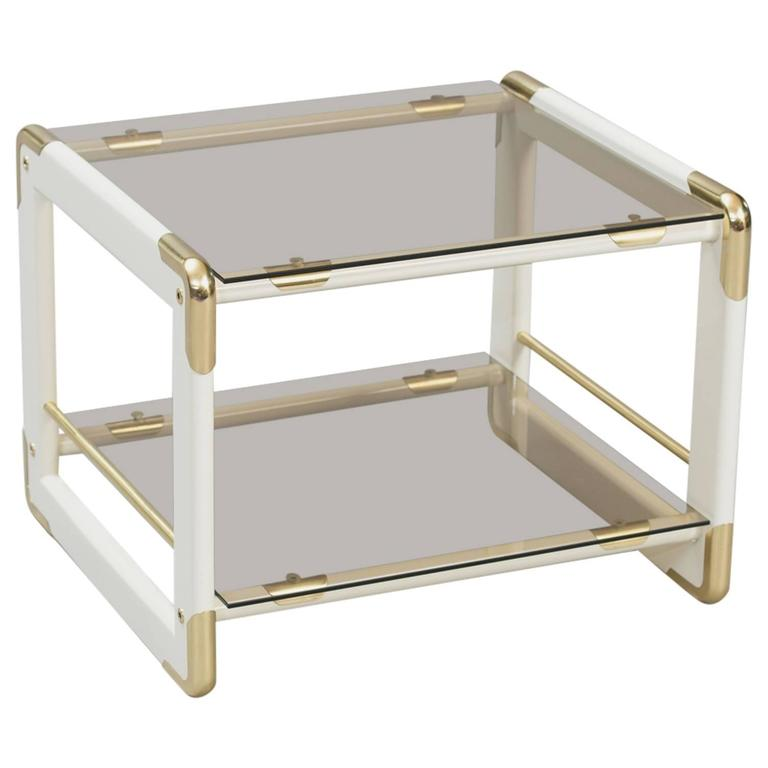 Lacquered wood Italian Side/Magazine Table