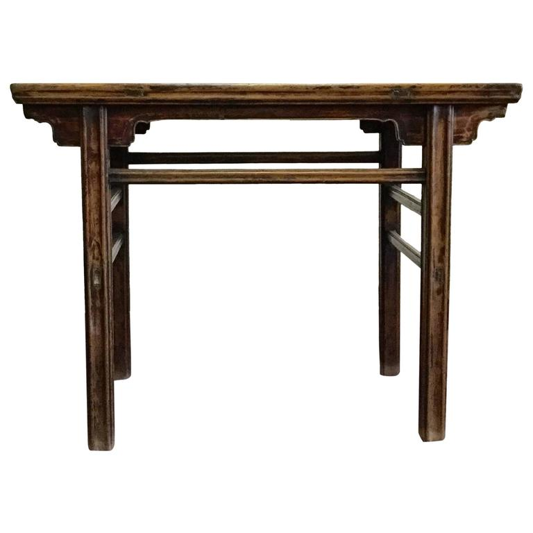 Chinese Wine Table Cypress Wood, 19th Century