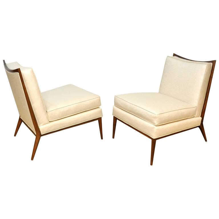 Pair of Paul McCobb for Directional 1320 Slipper Chairs 1