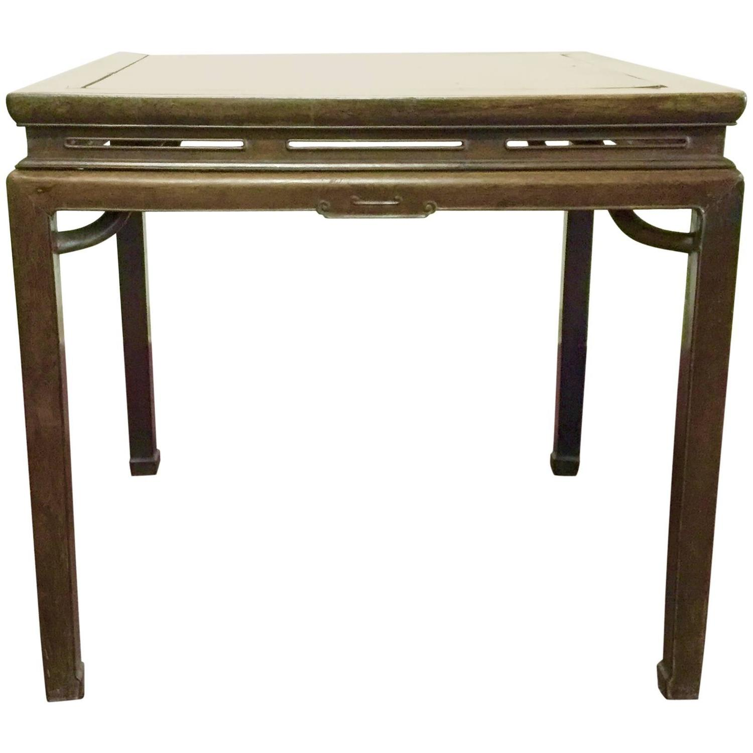 Elegant 19th century chinese ming style game table for for Chinese style furniture for sale
