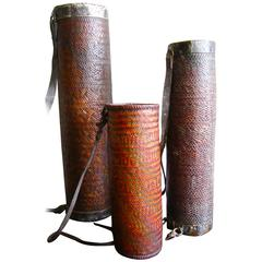 Bhutan Barley Beer Thermos, Set of Three, Early 20th Century