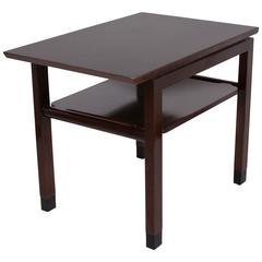 Mahogany Tiered End Table by Ed Wormley for Dunbar