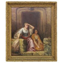 L. Von Weiler Painting of Two Maidens