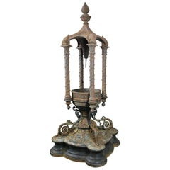 19th Century Cast Iron Outdoor Fountain by J.L. Mott, NYC