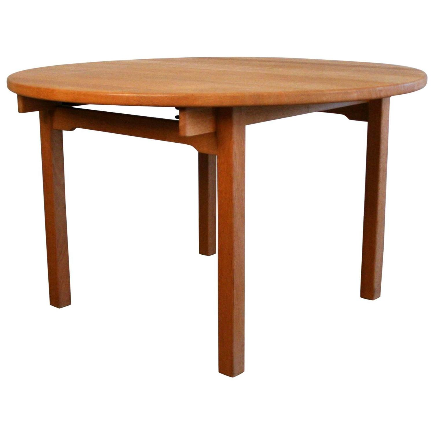solid oak round dining table by kurt osterberg for sale at 1stdibs
