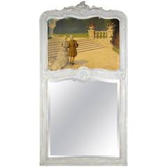 French 19th Century Louis XV Trumeau Mirror