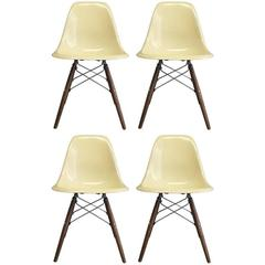 Four Herman Miller Eames DSW Dining Chairs