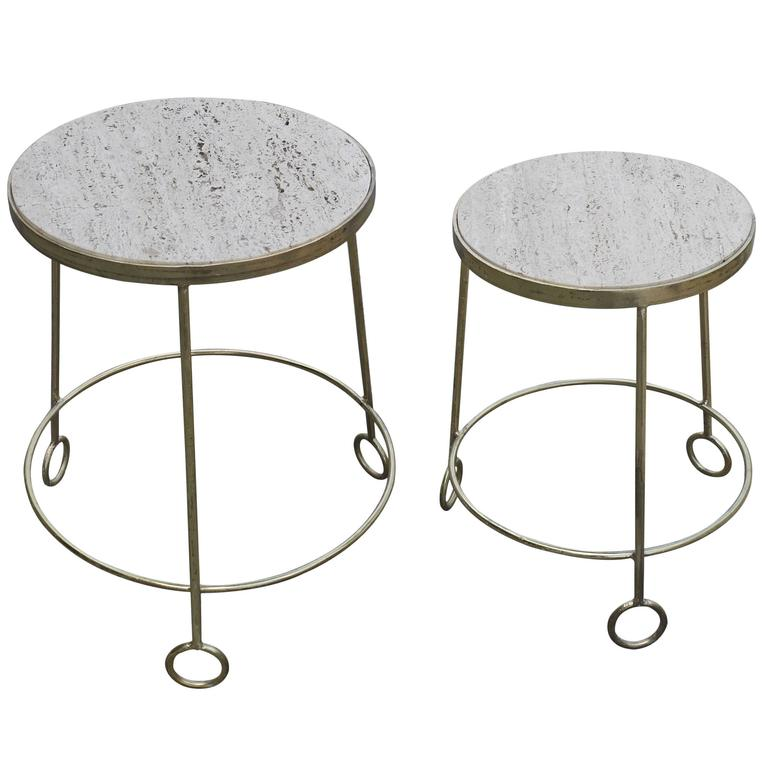 "Graduated Set of ""Yoyo"" Side Tables After Jean Royere 1"