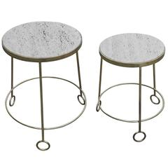 "Graduated Set of ""Yoyo"" Side Tables After Jean Royere"