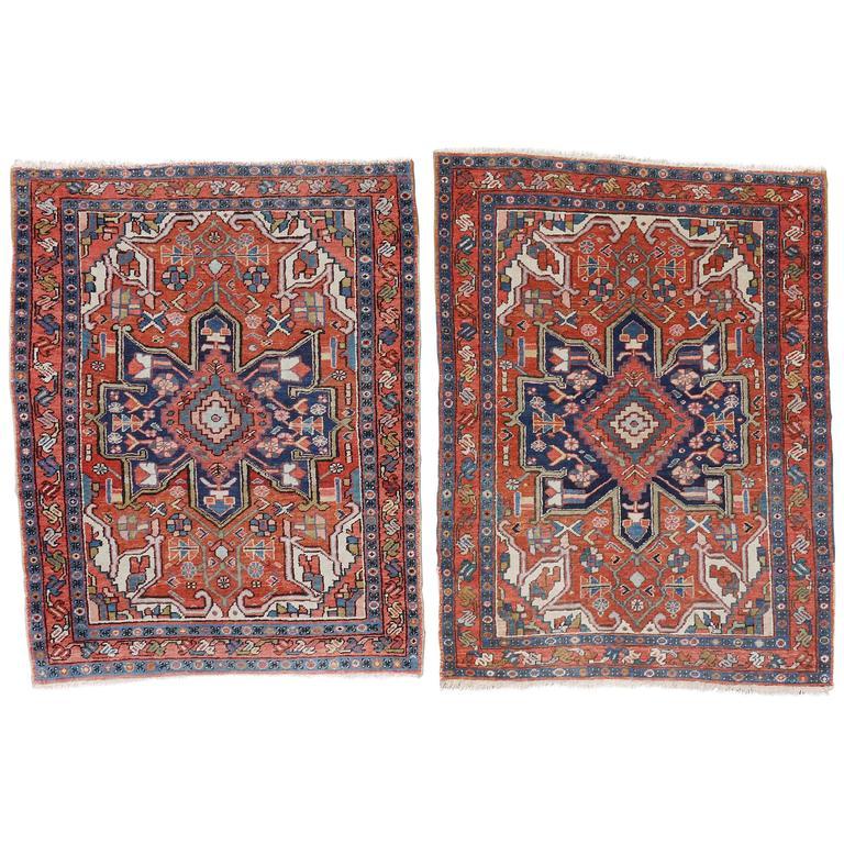 Pair of Late 19th Century Serapi Rugs 1