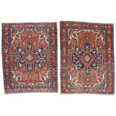 Pair of Late 19th Century Serapi Rugs
