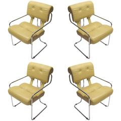 Four Original Tucroma Chairs by Guido Faleschini made by I4 Mariani, Italy 1972