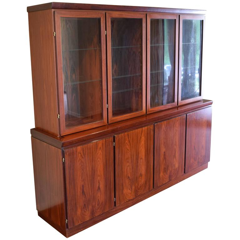 Large Skovby Rosewood Display Cabinet For
