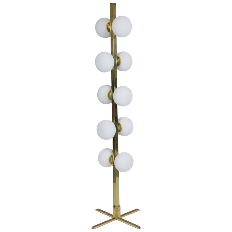 Modern Space Aged Design Brass Floor Lamp For Sale At 1stdibs