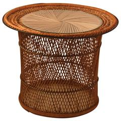 Rattan Wicker Side Table from Emmanuel Series