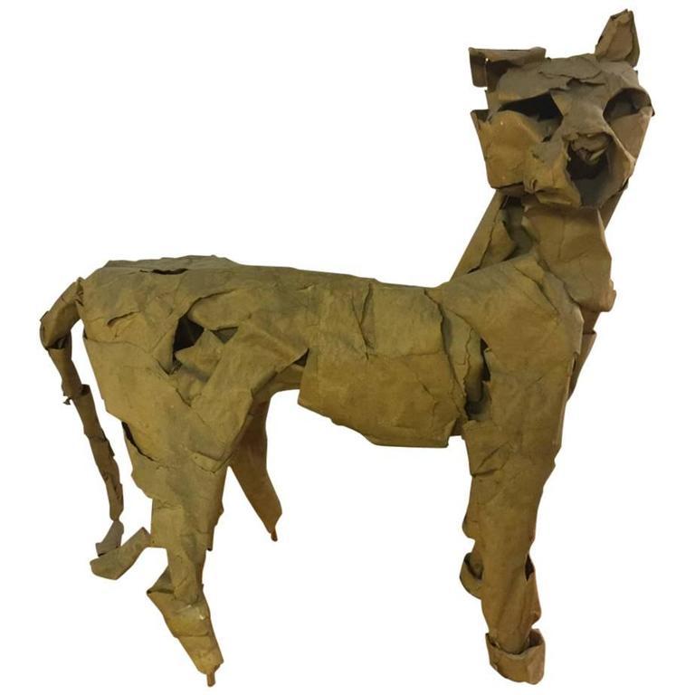 """Unique Dieter Finke Panther Sculpture """"Der HöLlenhund"""""""