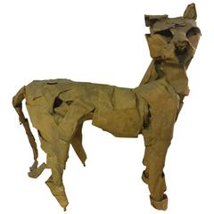 "Unique Dieter Finke Panther Sculpture ""Der HöLlenhund"""